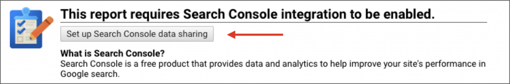 Set up search console