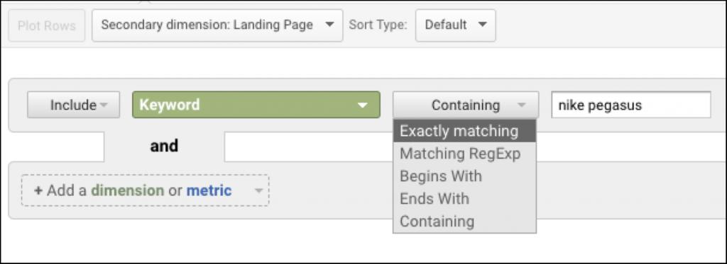 advanced search google analytics
