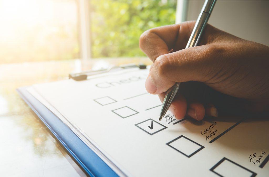keyword optimization checklist