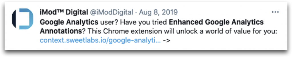 Enhanced Google Analytics Annotations
