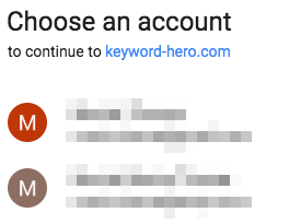 choosing between two google accounts
