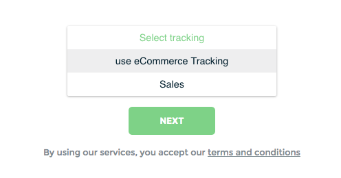 selecting a goal or conversion to track in Keyword Hero