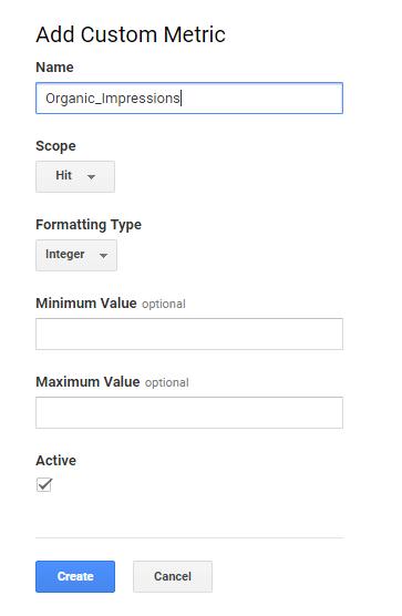 Add Custom Metrics Google Analytics