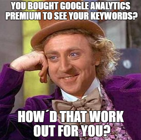 Google Analtics Premium not provided Keywords