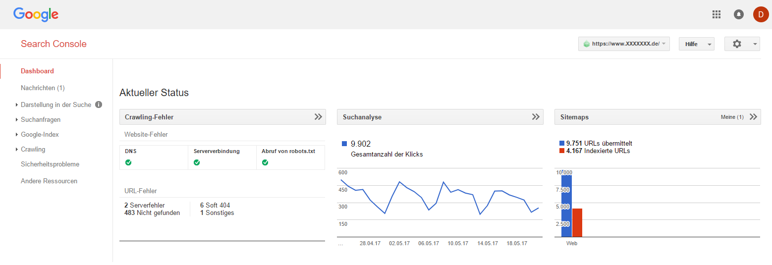 right search console https account