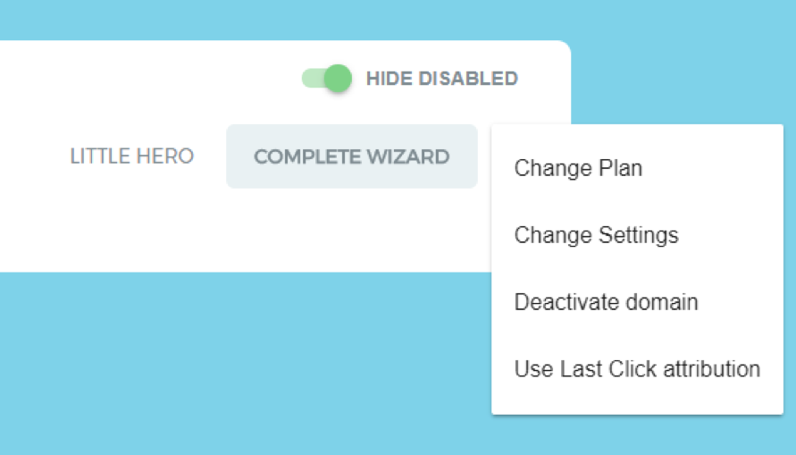 changing attribution models in Keyword Hero